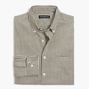 J Crew Men's Slim flex washed shirt in gingham - S